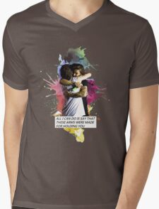 larry hug watercolor Mens V-Neck T-Shirt
