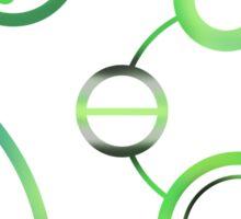 Agender in Circular Gallifreyan (w/ symbol) Sticker