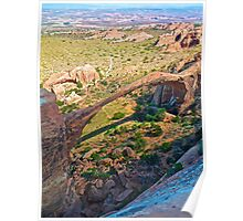 Landscape Arch From Above Poster