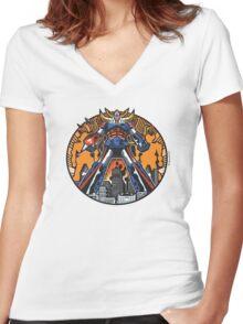 Los Robots Gigantes: It Begins Women's Fitted V-Neck T-Shirt