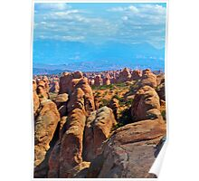 Pinnacle Overview in Arches Poster