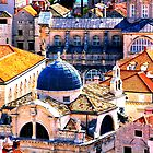 The Essence of Croatia - Red Terracotta Rooftops of Dubrovnik by Igor Shrayer