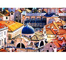 The Essence of Croatia - Red Terracotta Rooftops of Dubrovnik Photographic Print
