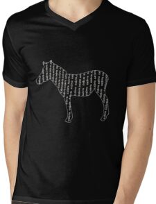 Zebra typography Mens V-Neck T-Shirt