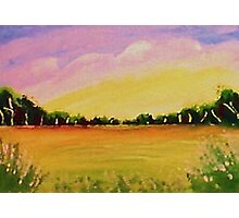 Peaceful meadow, watercolor Photographic Print