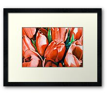 Red Tulips in Coloured Pencil Framed Print