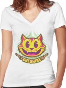 Cheshire Originals - Vintage Tutti Frutti Women's Fitted V-Neck T-Shirt