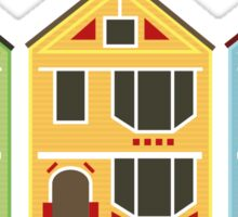 The Painted Ladies from San Francisco, California Sticker