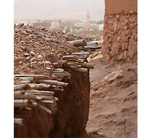 Moroccan Kasbah Roof Photographic Print