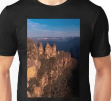 Three Sisters at sunset, Blue Mountains, Australia Unisex T-Shirt