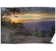 Grand Canyon Sunset Warm Poster