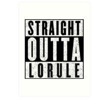 Lorulean with Attitude Art Print