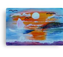 What a sunset!  watercolor Canvas Print