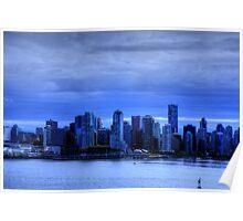Vancouver City Skyline Poster