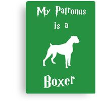 My Patronus is a Boxer (Different Layout) Canvas Print