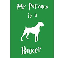 My Patronus is a Boxer (Different Layout) Photographic Print