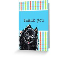 Schipperke Pretty Plaid Thank You Card Greeting Card