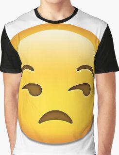 Unamused face emoji whatsapp Graphic T-Shirt