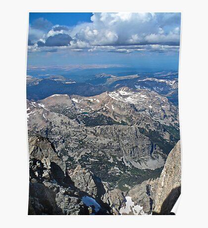 Top of Grand Teton Westward Poster