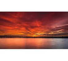 Sunrise by the beach Photographic Print