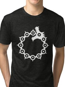 The Seven Deadly Sins - The Dragon Sin of Wrath (White) Tri-blend T-Shirt