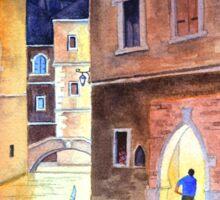 Venice Italy - Evening Gondola Ride Sticker
