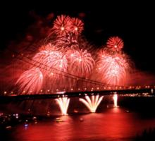 Fireworks - 75th Anniversary of the Golden Gate Bridge Sticker