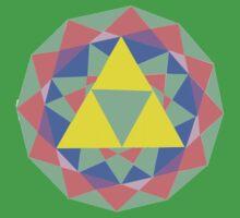 Legend of Zelda Triforce Mosaic  by musicsarang