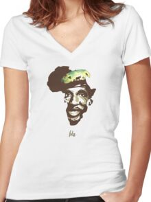 Thomas Sankarafrica Women's Fitted V-Neck T-Shirt