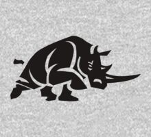 Rhino Stencil - Black by Ten Ton Tees