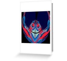 red & blue lobster Greeting Card