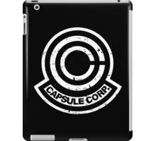 Capsule Corp. Black iPad Case/Skin