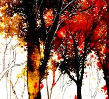Autumn Cascade....October In Ink Sticker