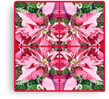Pink Poinsettia Decor Canvas Print