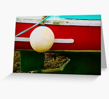 Buoy and Boat at Low Tide Greeting Card