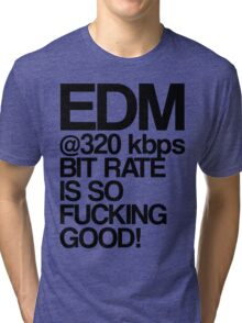 EDM at 320 kbps Tri-blend T-Shirt