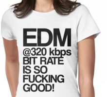 EDM at 320 kbps Womens Fitted T-Shirt
