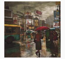 City - NY - Times Square on a rainy day 1943 Kids Clothes