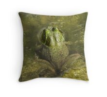 Frog May Throw Pillow