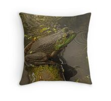 Frog September Throw Pillow