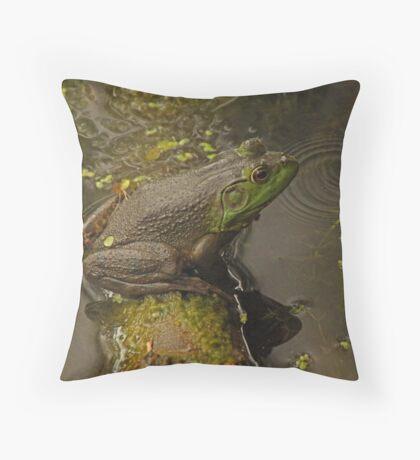 Frog September Throw Pillow