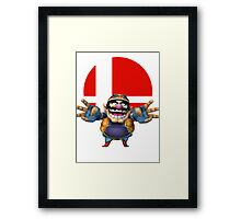 wario t-shirt smash bros brawl  Framed Print
