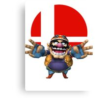 wario t-shirt smash bros brawl  Canvas Print