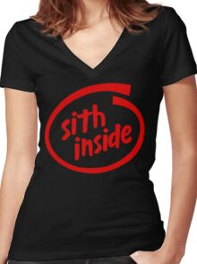 Sith Inside Women's Fitted V-Neck T-Shirt