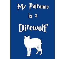 My Patronus is a Direwolf Photographic Print