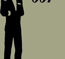 James Bond 007 Stencil by Spadaro