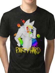 PARTY HARD BARFIE Tri-blend T-Shirt
