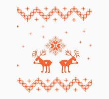 Winter ornament with deer and snowflakes Unisex T-Shirt