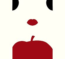 Snow White Minimalist iPhone Case by Alexandra Grant
