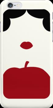 Snow White Minimalist iPhone Case by Alexandra Grant